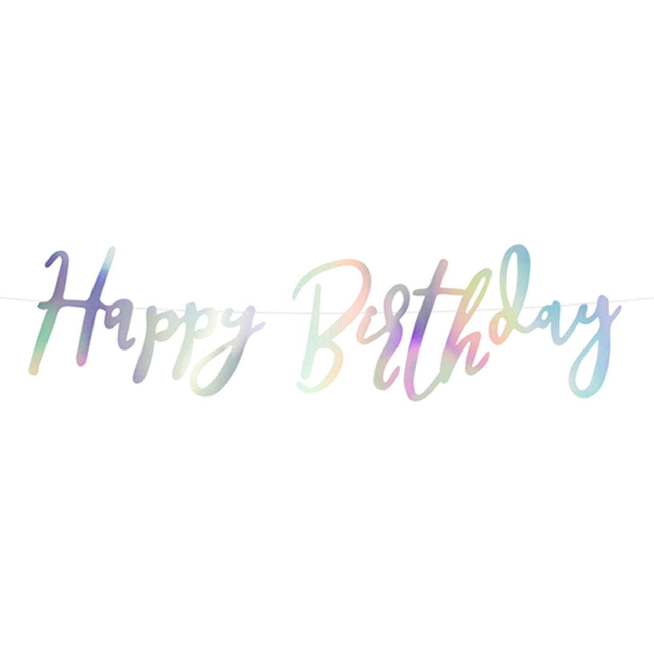 Banner / Girlande - Happy Birthday - Iridescent