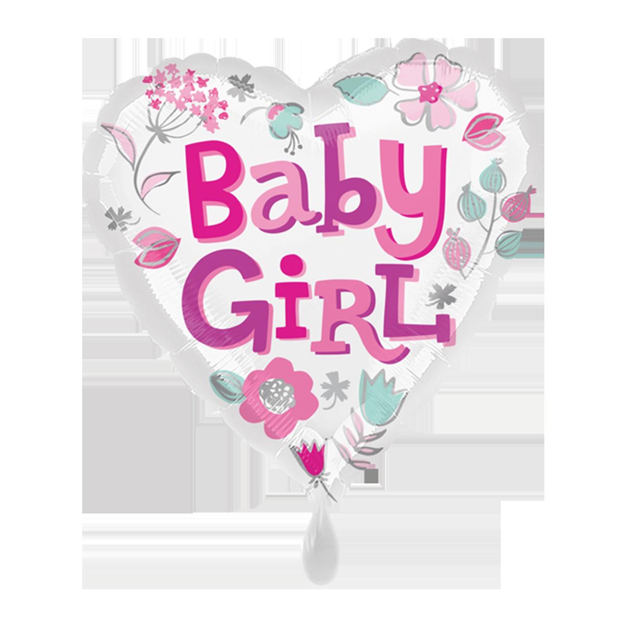 Baby Girl Herz - Folienballon