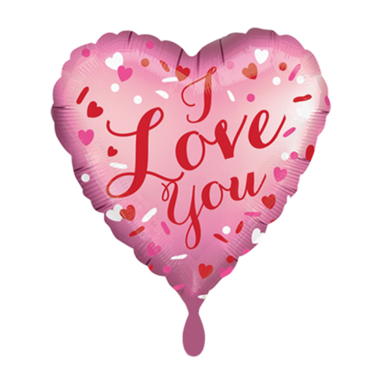 Herz Ballon Satin - Love You  Folienballon