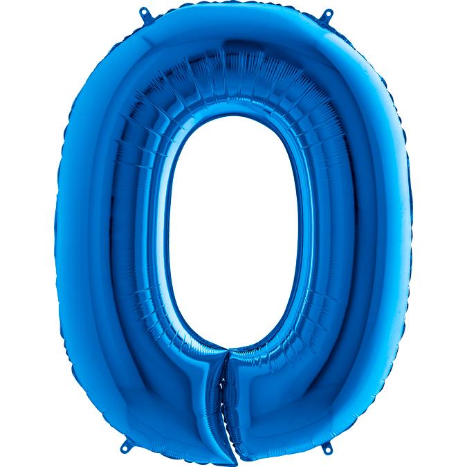XXL Folienballon blau Zahl 0