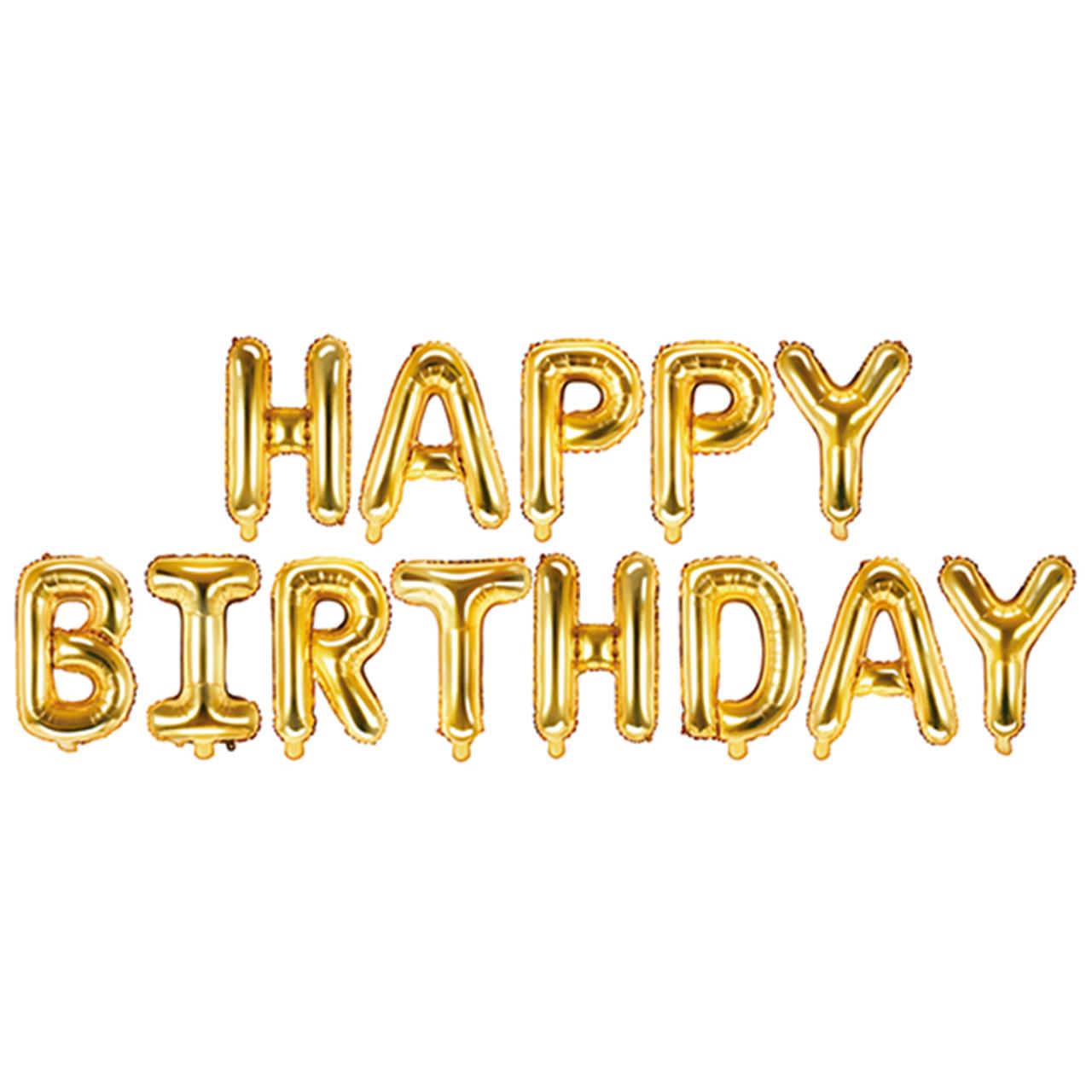 Happy Birthday - Schriftzug