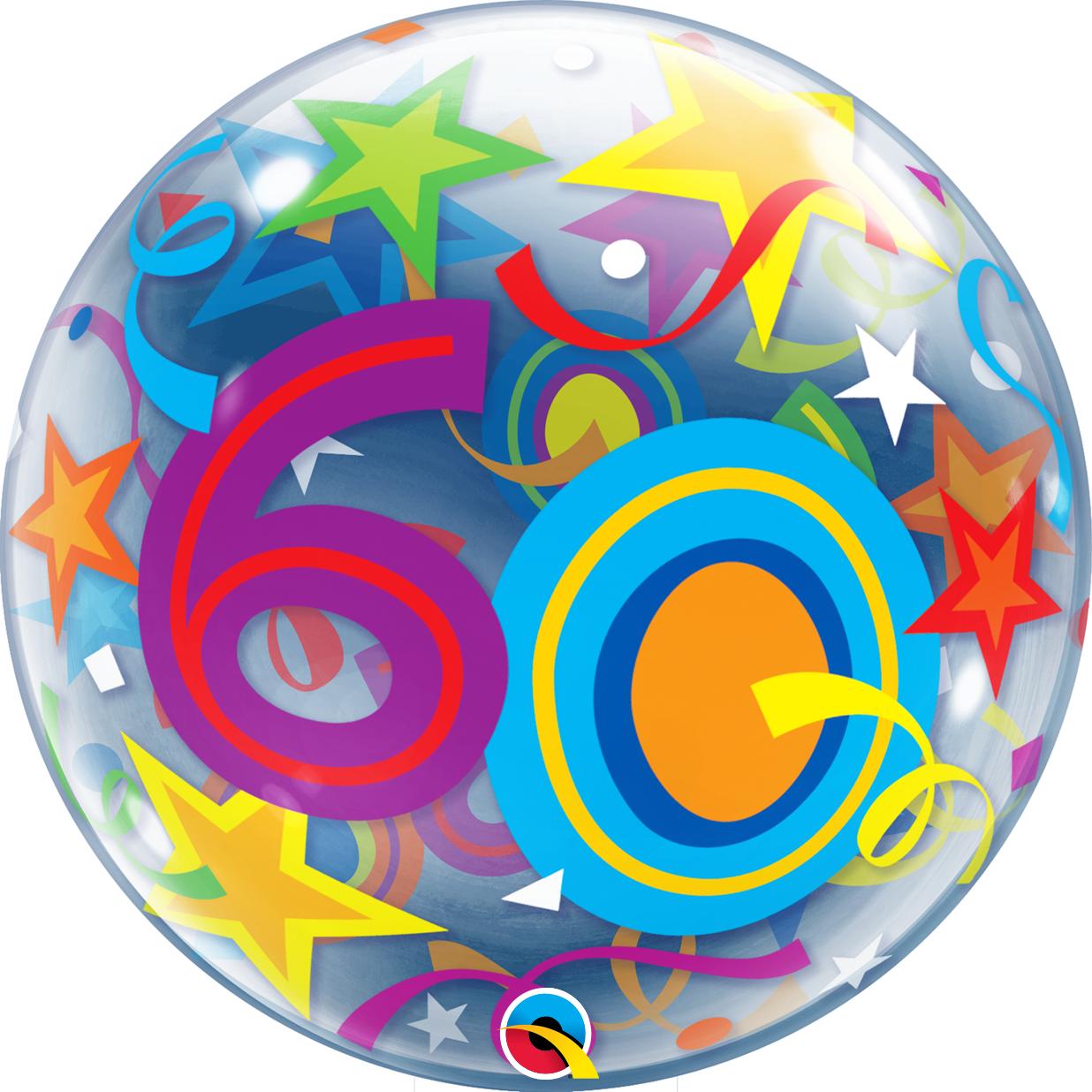 BUBBLES - 60 Brilliant Stars Geburtstag