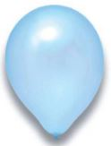 Latex Ballon hellblau metallic