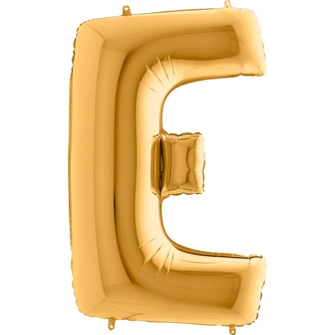 XXL Folienballon gold Buchstabe E