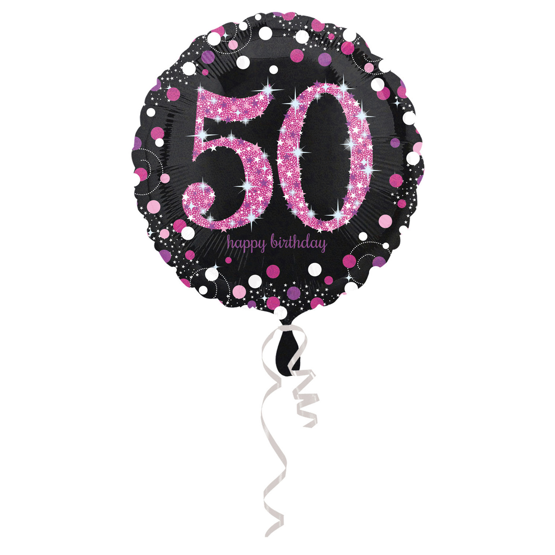 Celebration Geburtstag PINK Folienballon Zahl 50