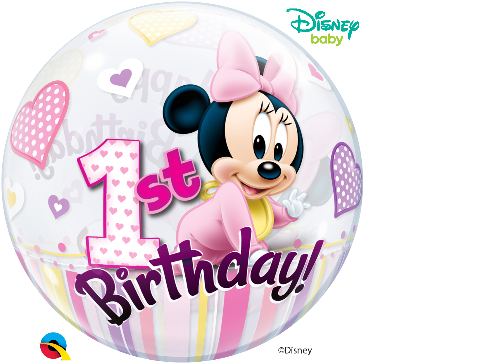 BUBBLES - Disney Minnie Mouse 1st Birthday