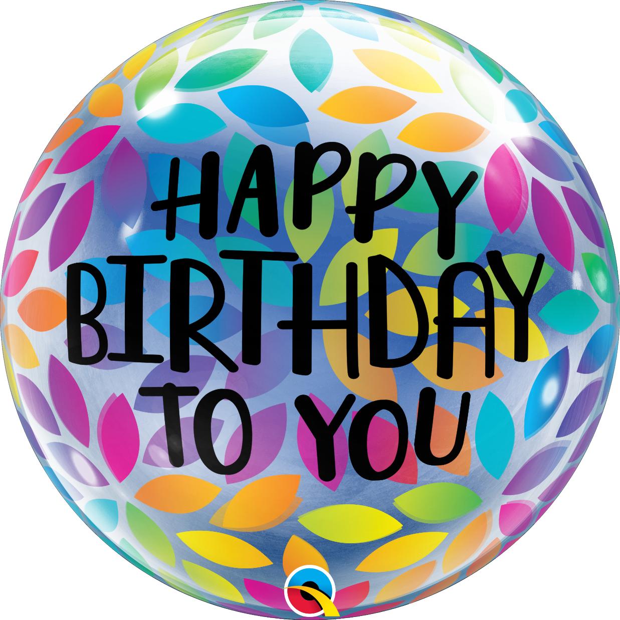 BUBBLES - Happy Birthday To You Petals