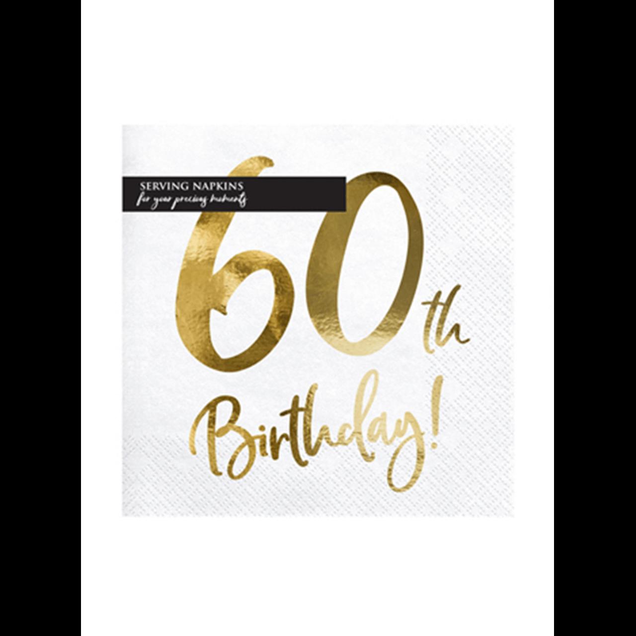 20x Servietten Trend 60 th Birthday