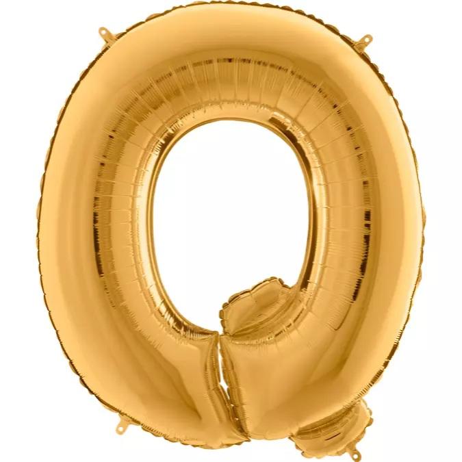 XXL Folienballon gold Buchstabe Q