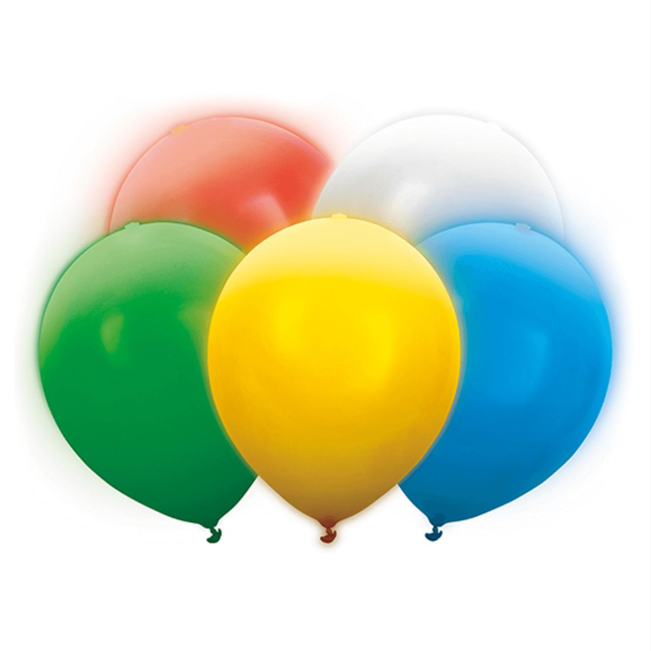 5x LED Latex Ballon Bunt