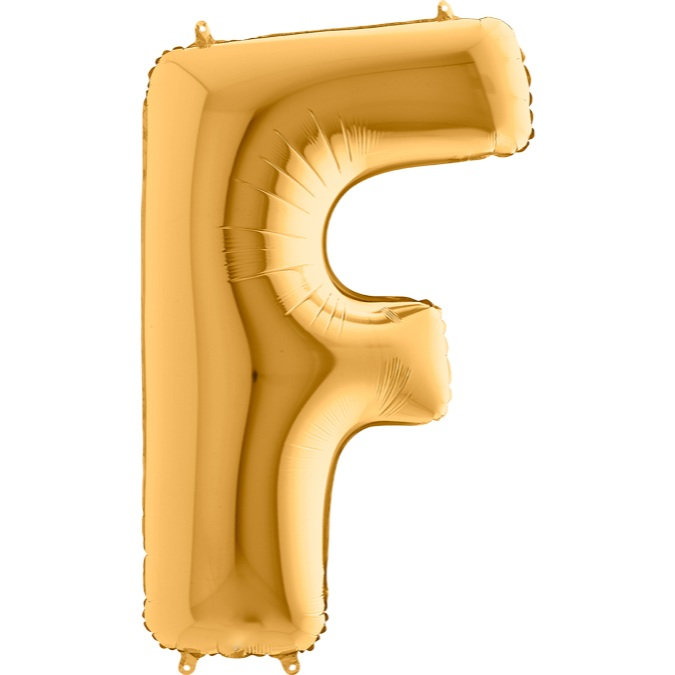 XXL Folienballon gold Buchstabe F