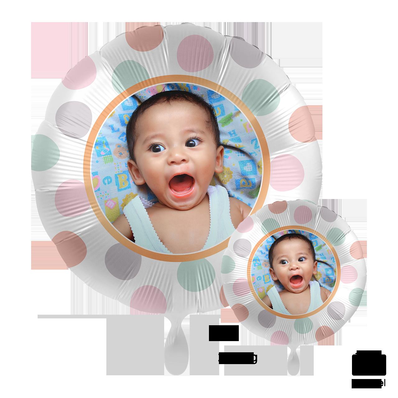 Fotoballon - Dots - Rundballon