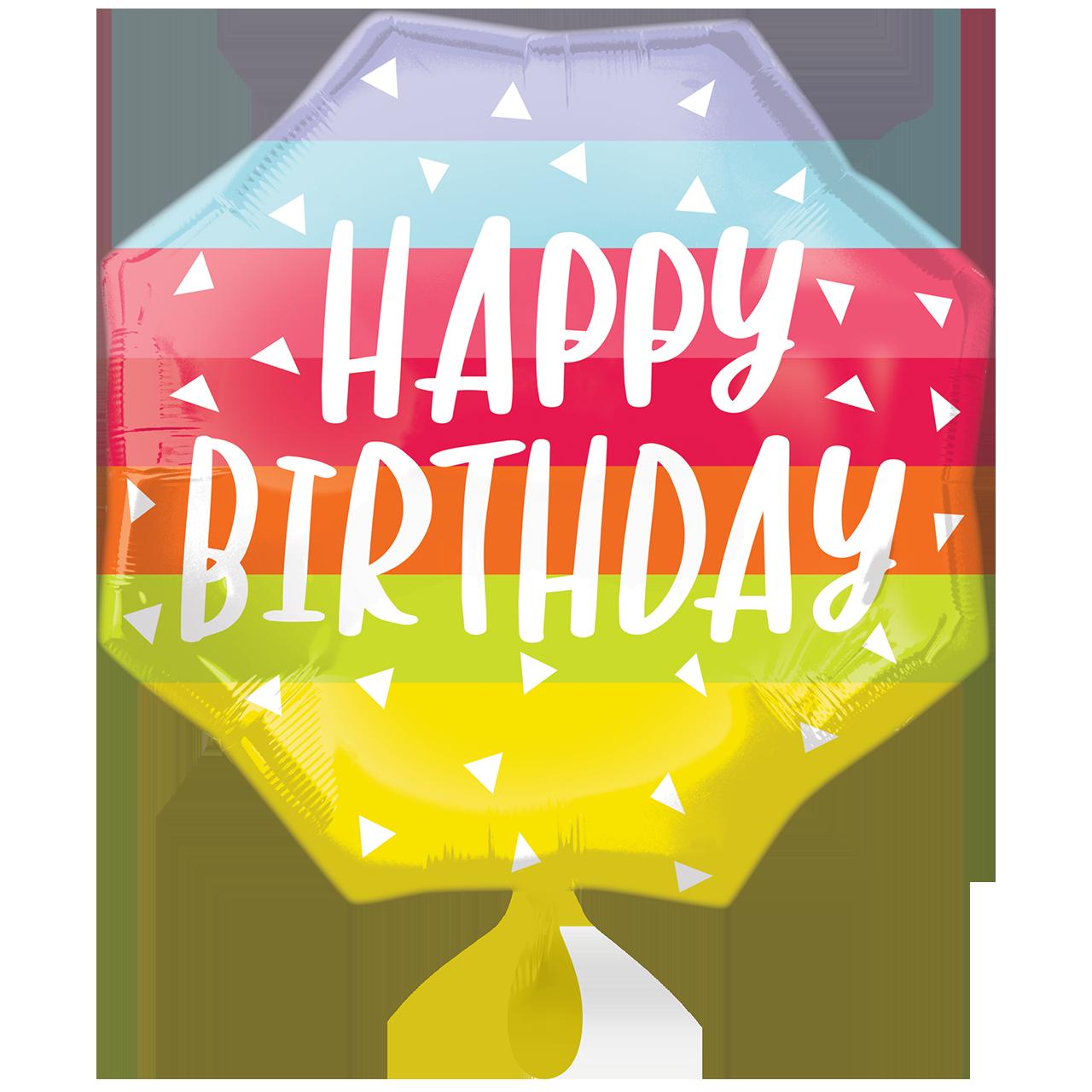 Bright and Bold Birthday  - Folienballon