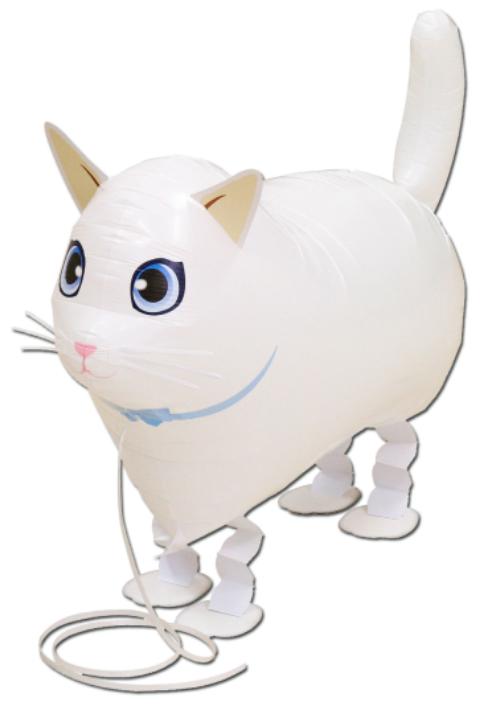 AirWalker weiße Katze - Walking Balloon