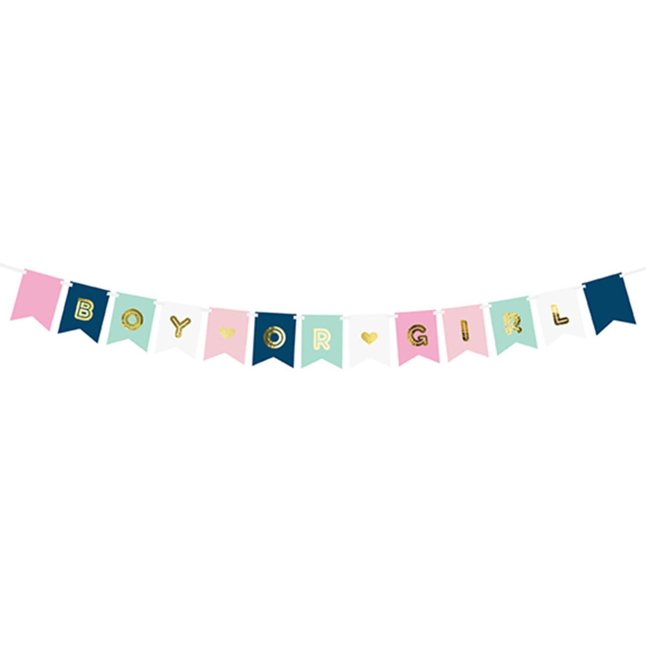 Banner / Girlande - Boy or Girl