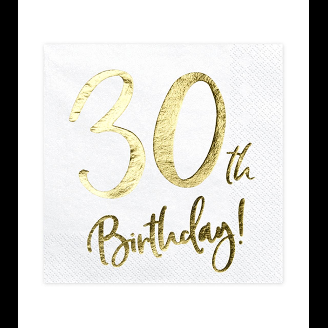 20x Servietten Trend 30 th Birthday