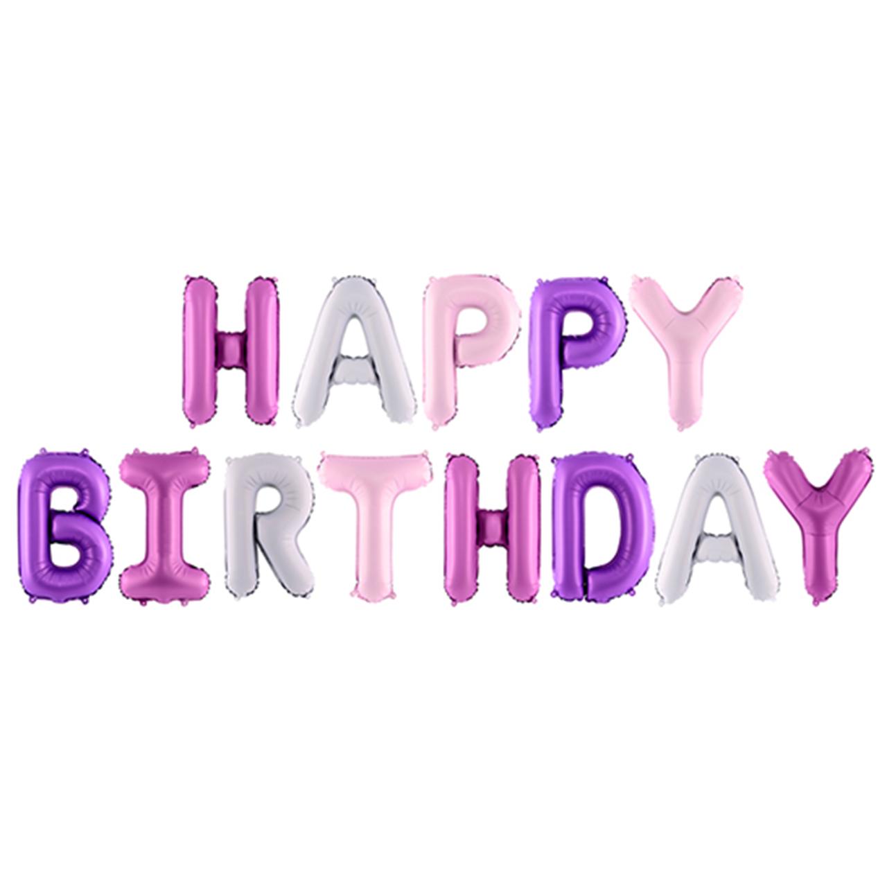 Happy Birthday - Schriftzug Trendy