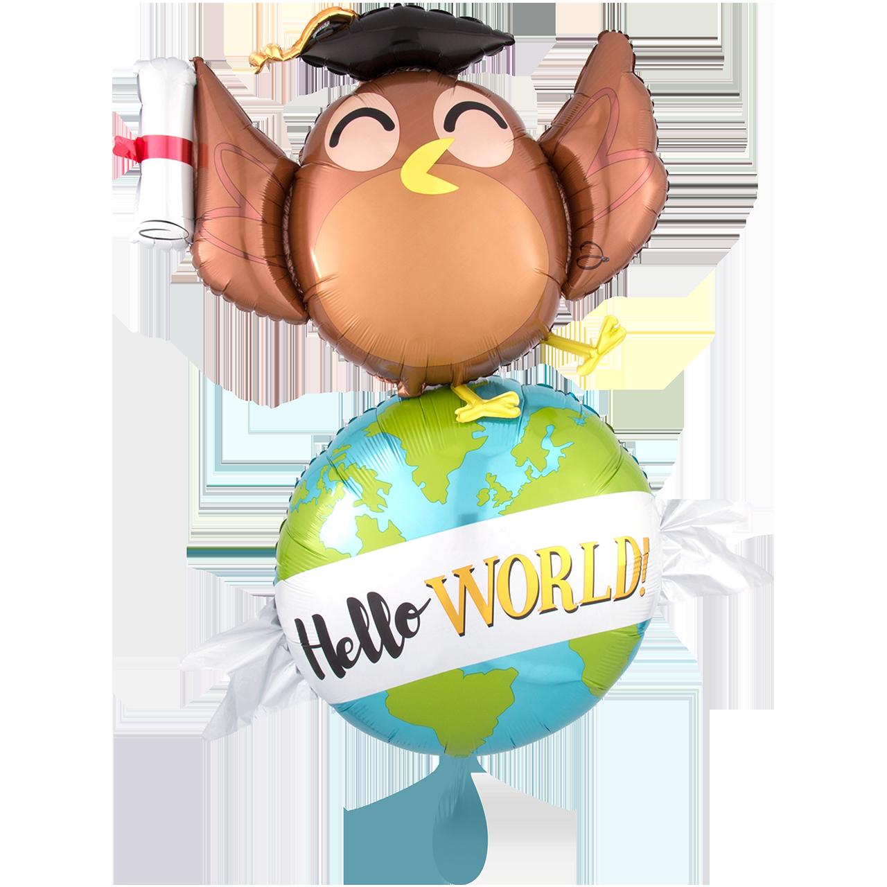 XXL  Hello World - Folienballon