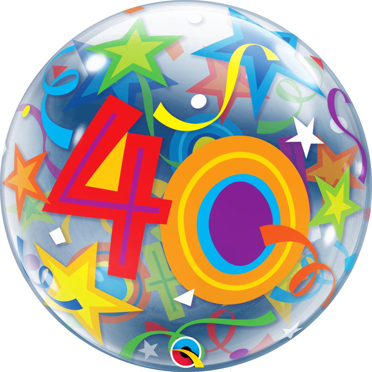 BUBBLES - 40 Brilliant Stars Geburtstag