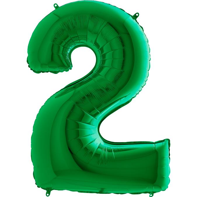 XXL Folienballon grün Zahl 2