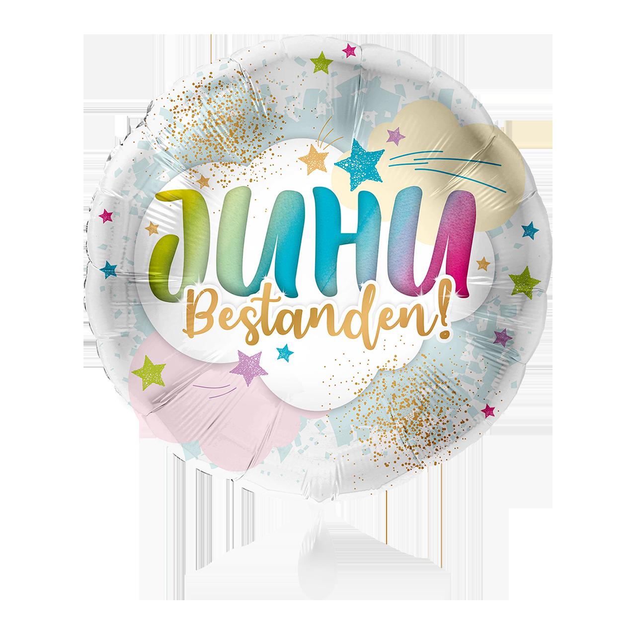 JUHU Bestanden! Folienballon