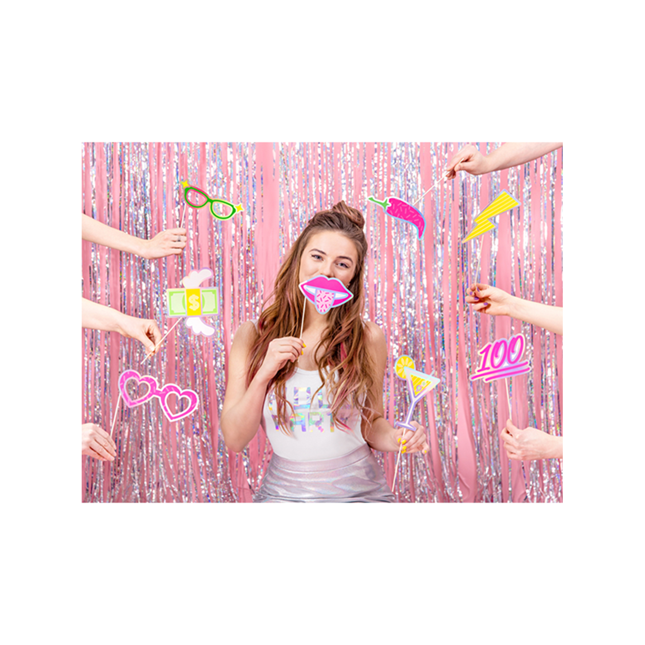 1 Photobooth Set - Electric Party