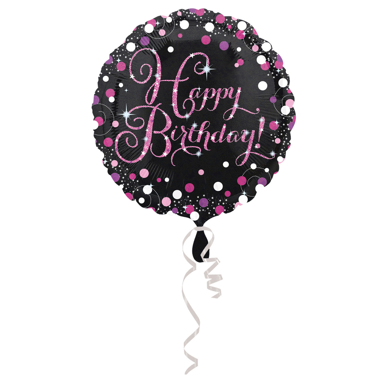 Celebration Geburtstag PINK Folienballon Happy Birthday