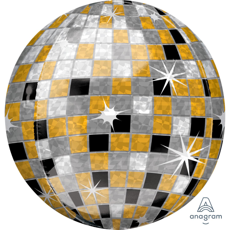 ORBZ Gold, Silver, Black Disco Ball Folienballon