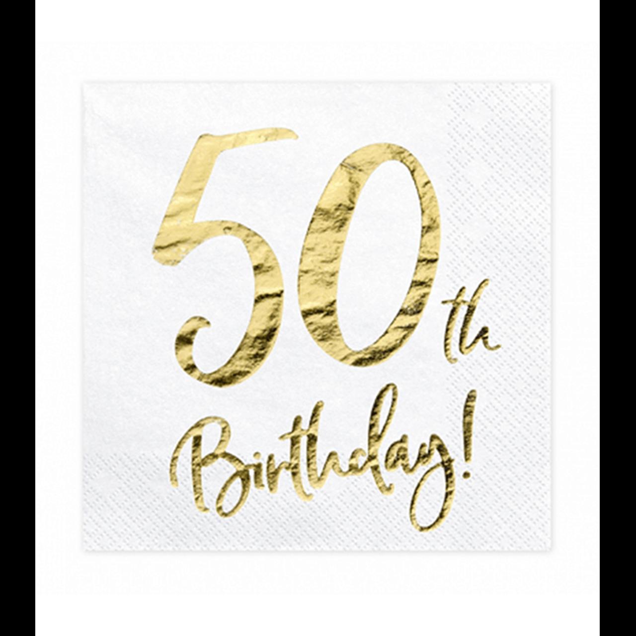 20x Servietten Trend 50 th Birthday