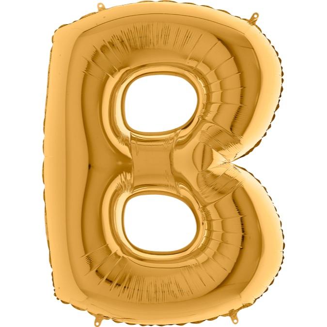 XXL Folienballon gold Buchstabe B