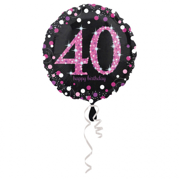 Celebration  Geburtstag PINK Folienballon Zahl 40