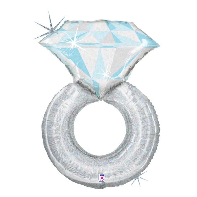 Hochzeitsring - Platinum Wedding Ring Folienballon Holographisch