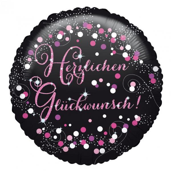 Celebration Geburtstag PINK Folienballon Herzlichen Glückwunsch