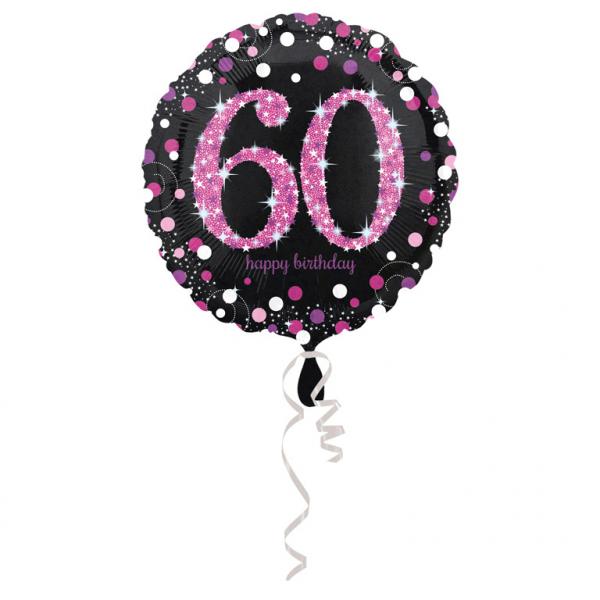 Celebration  Geburtstag PINK Folienballon Zahl 60