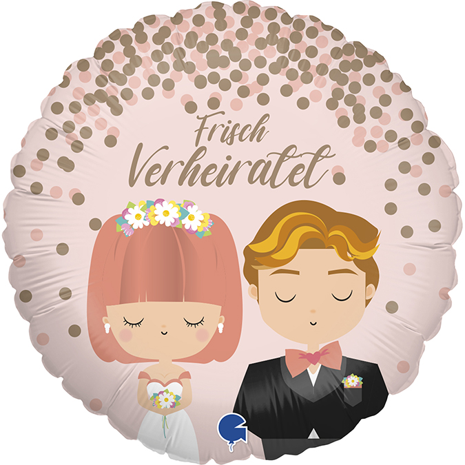 Frisch Verheiratet - Folienballon