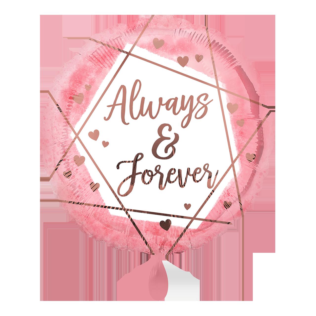 Always & Forever Watercolour - Folienballon