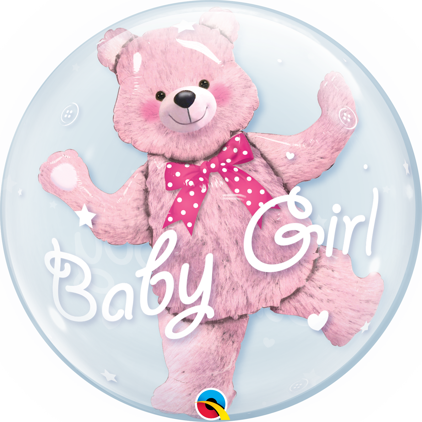 Double BUBBLES - Baby Pink Bear