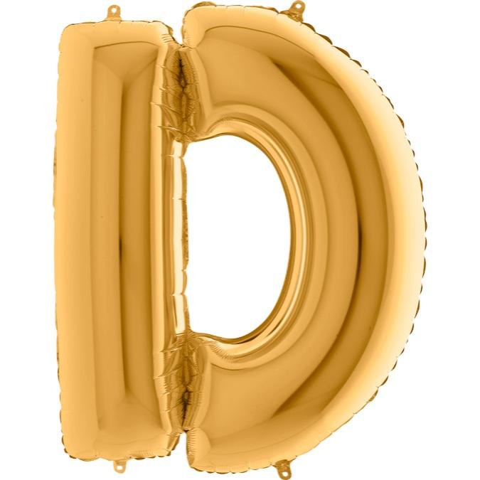 XXL Folienballon gold Buchstabe D