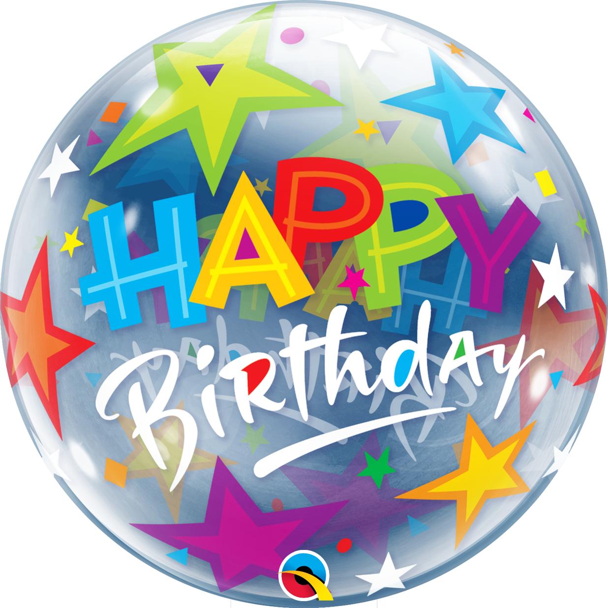 BUBBLES - Happy Birthday Brilliant Stars - Geburtstag