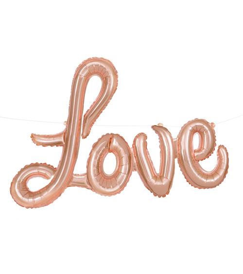 Schriftzug LOVE Rose Gold - Folienballon