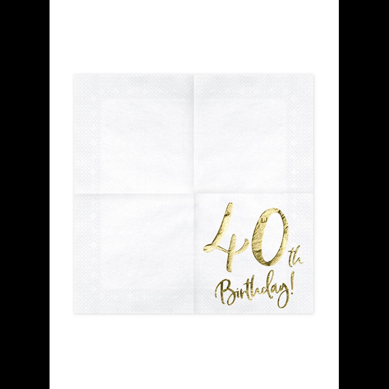 20x Servietten Trend 40 th Birthday