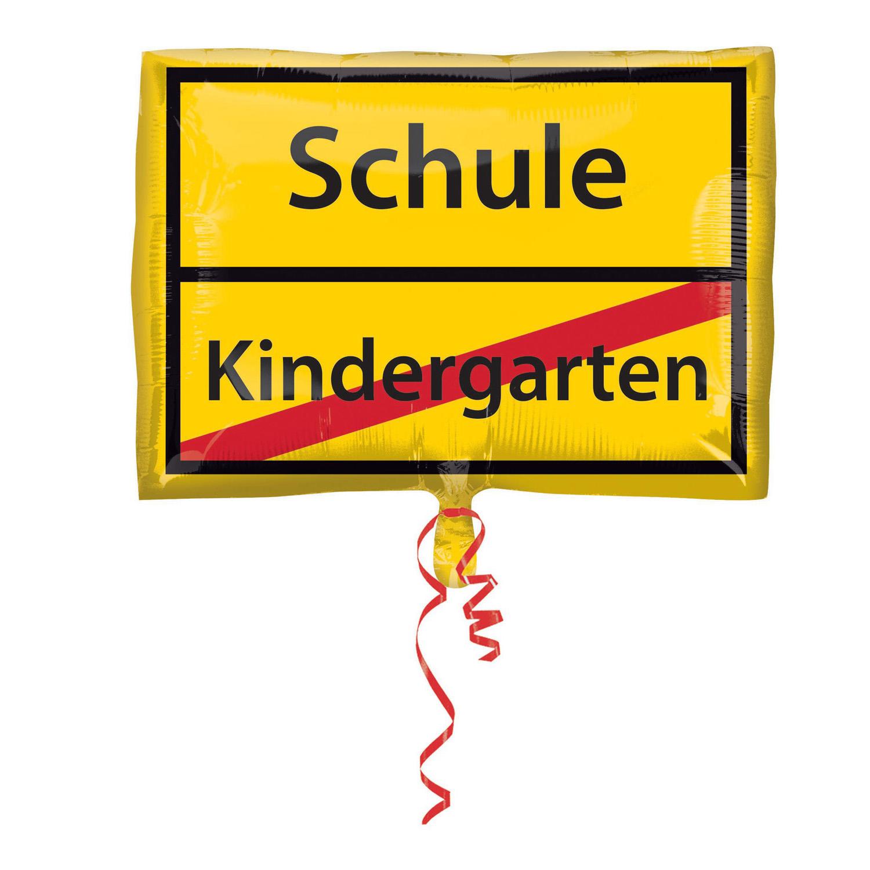 Kindergarten AUS Schule - Folienballon