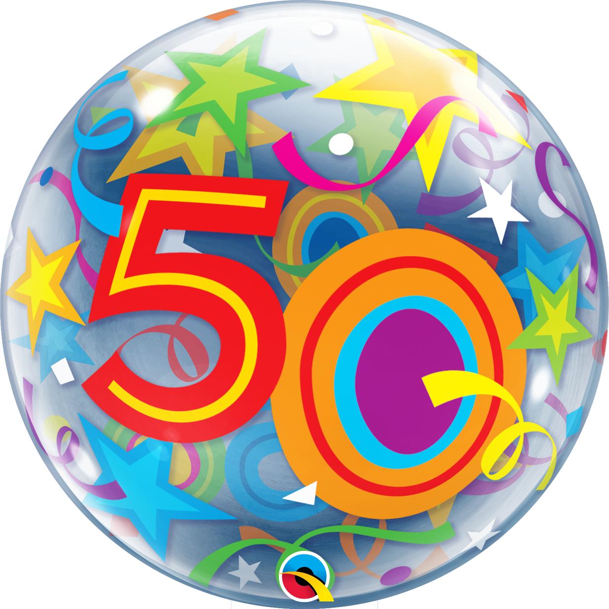 BUBBLES - 50 Brilliant Stars Geburtstag