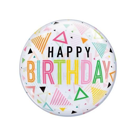 Bubbles Birthday Rainbow - Folienballon