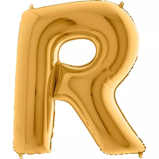 XXL Folienballon gold Buchstabe R