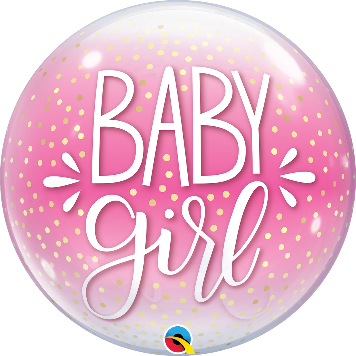 BUBBLES - Baby Girl Pink & Confetti Dots