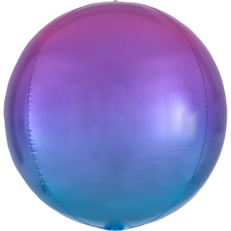 Orbz Ombré Red & Blue - Folienballon