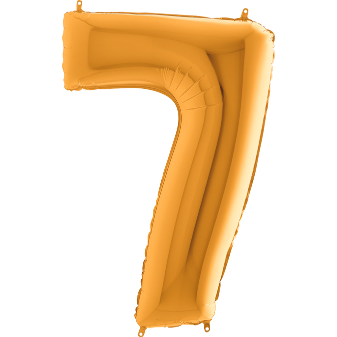 XXL Folienballon gold Zahl 7