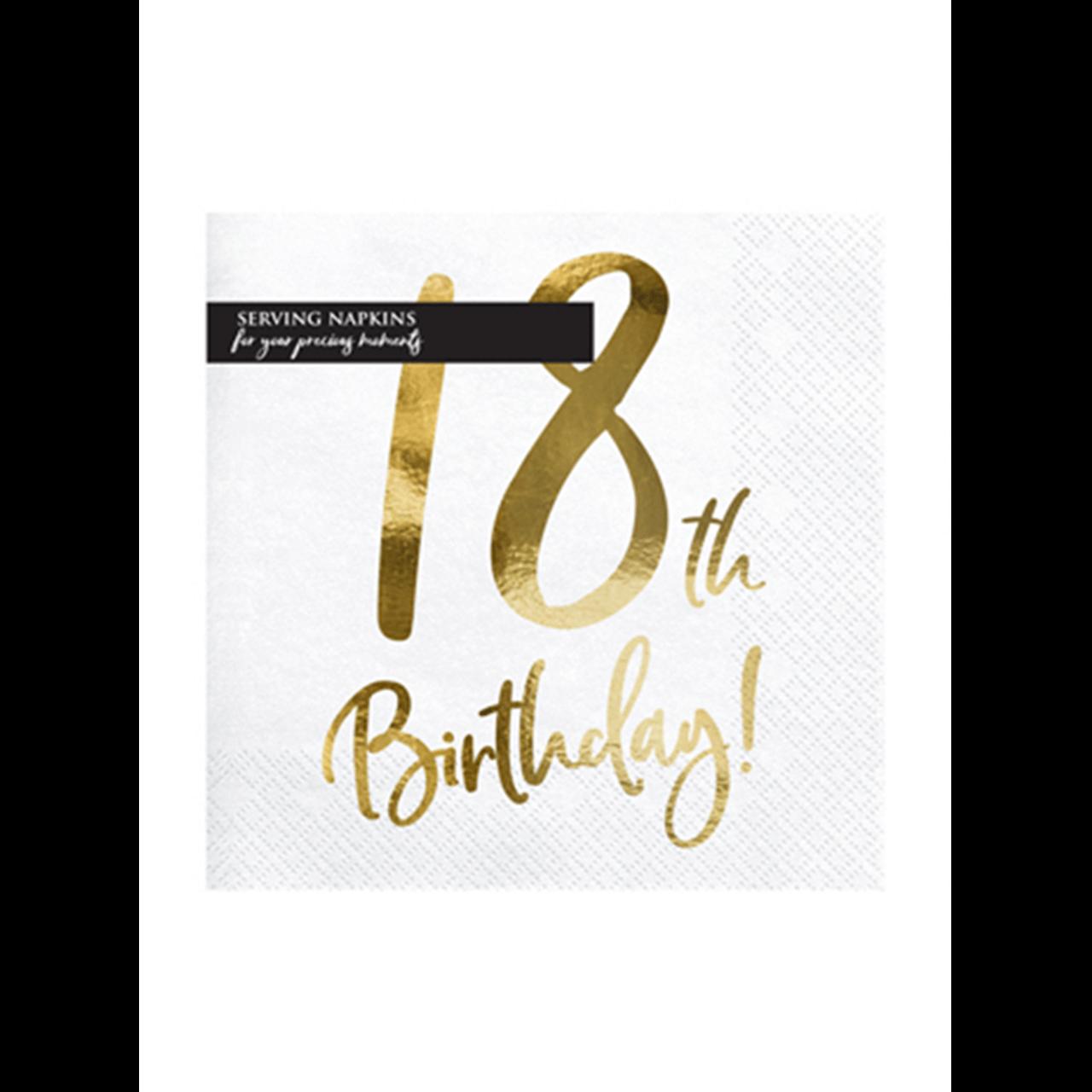 20x Servietten Trend 18 th Birthday